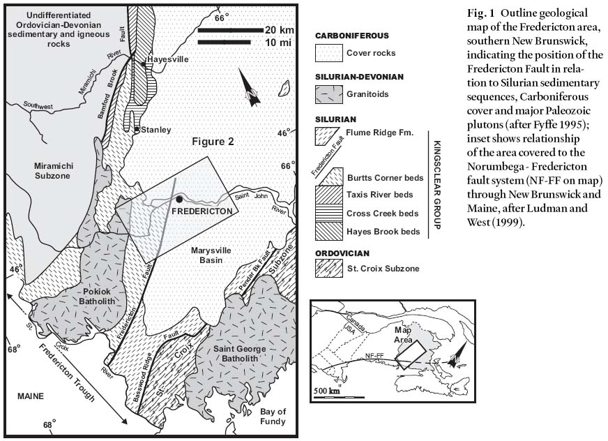 Structural transect through Silurian turbidites of the Fredericton