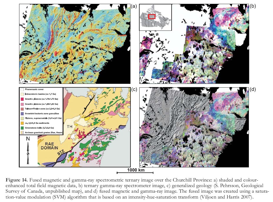 Remote predictive mapping 2 gamma ray spectrometry a tool for geological interpretations of gamma ray spectrometer data a ternary image over the melville peninsula nunavut and interpreted radioelement domains gumiabroncs Gallery