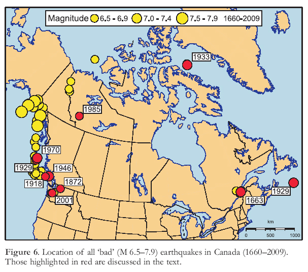 Canada S Earthquakes The Good The Bad And The Ugly Cassidy