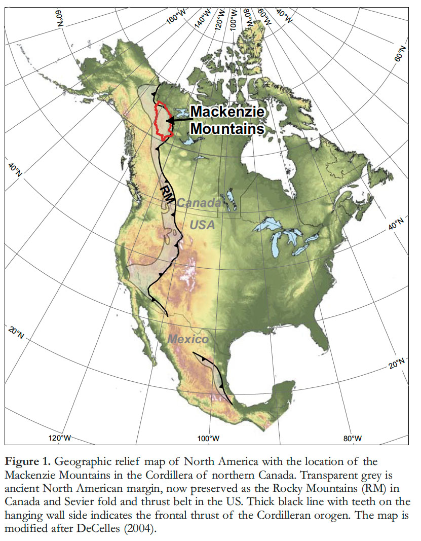 Map Of Canada Mountains.Articles Metallogenic Evolution Of The Mackenzie And Eastern