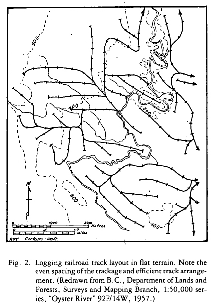 spur in topography map