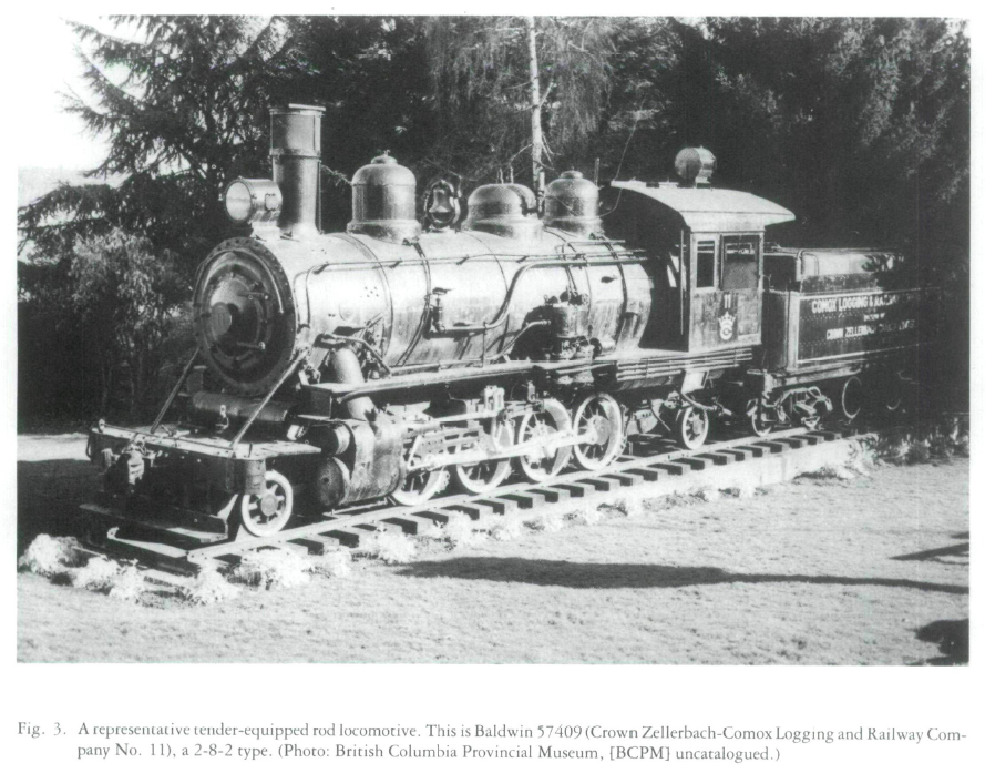 View of Logging Railroads and Locomotives in British