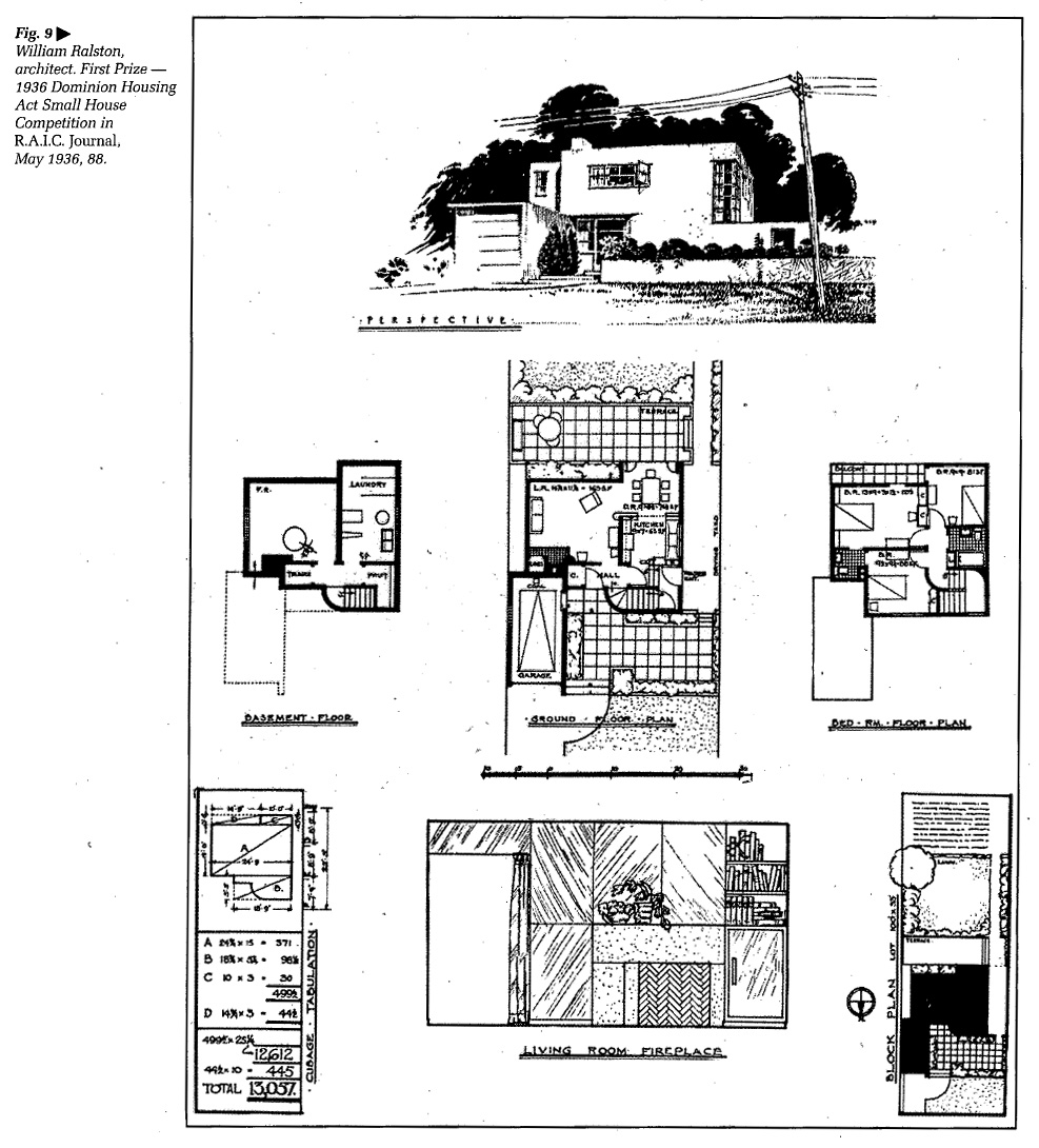 Machines in suburban gardens the 1936 t eaton company for Small house design competition