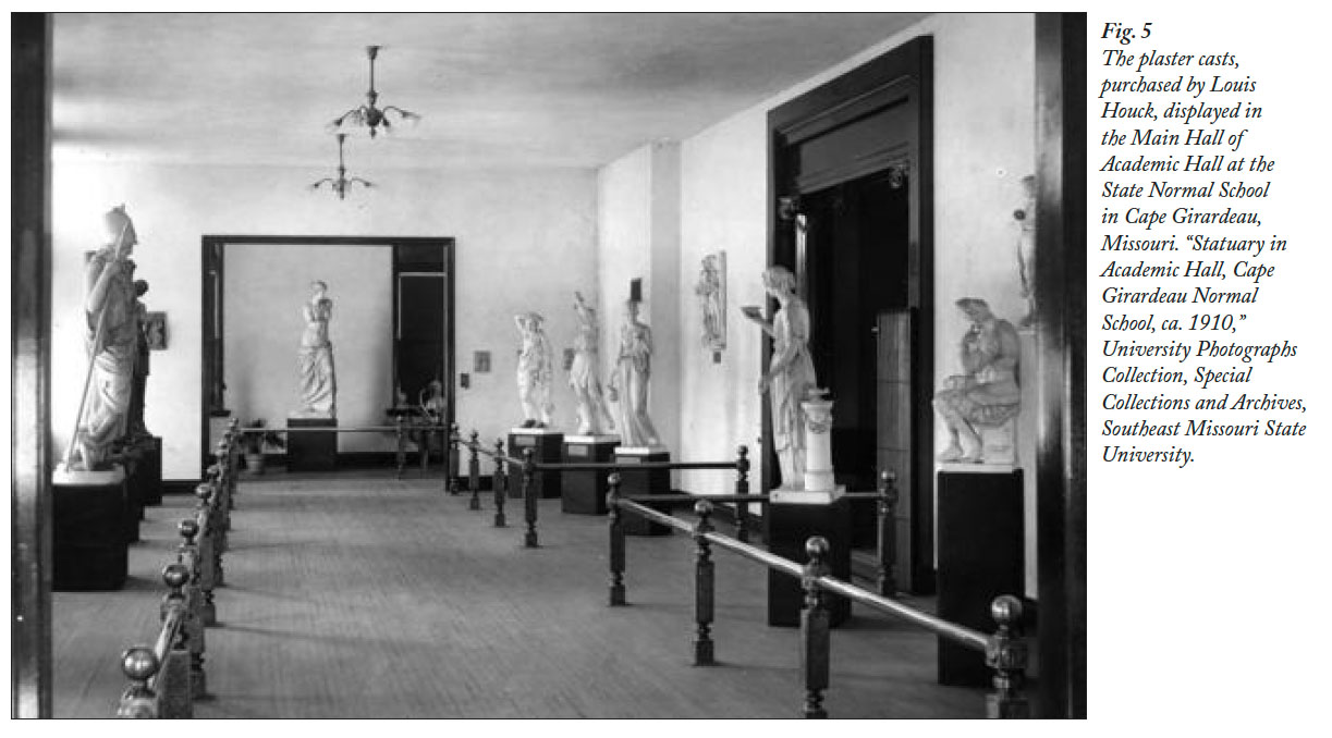 View of Plaster Cast Collections from the 1904 Louisiana