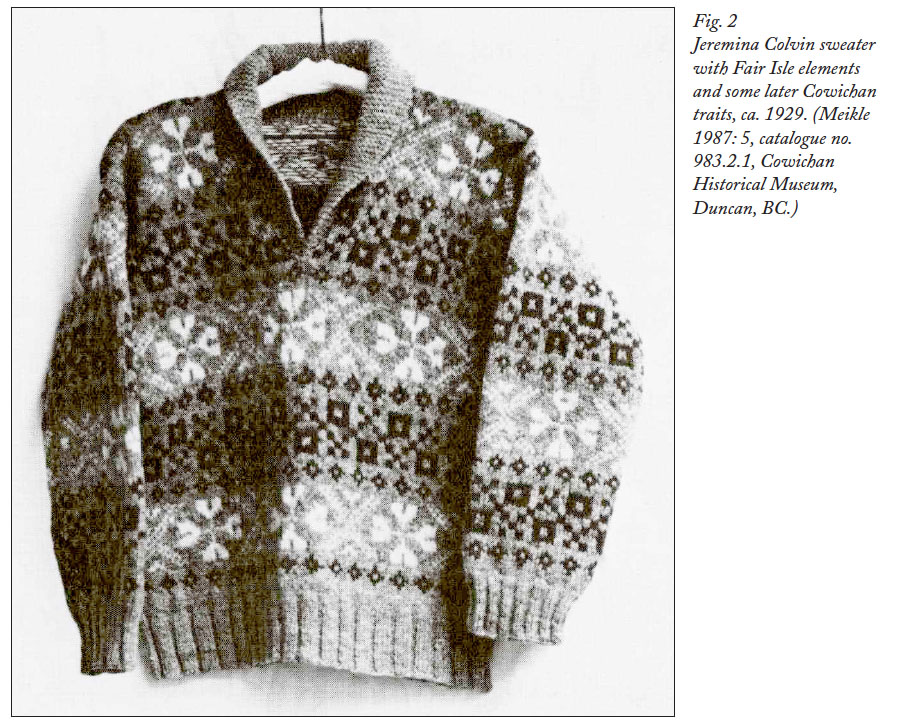 The Coast Salish Knitters and the Cowichan Sweater: An Event of ...